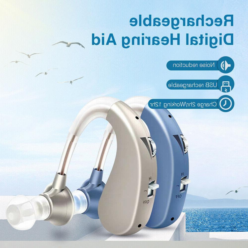 Digital Hearing Aid Severe Loss Invisible BTE Ear Aids