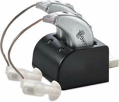 Digital Hearing Aids Usb Rechargeable Pair Personal Sound Am