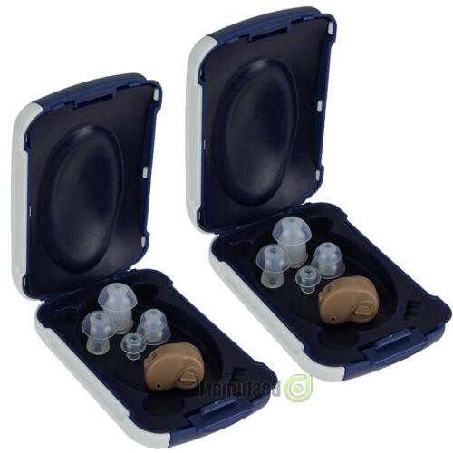 2x Small In Ear Amplifier Aids