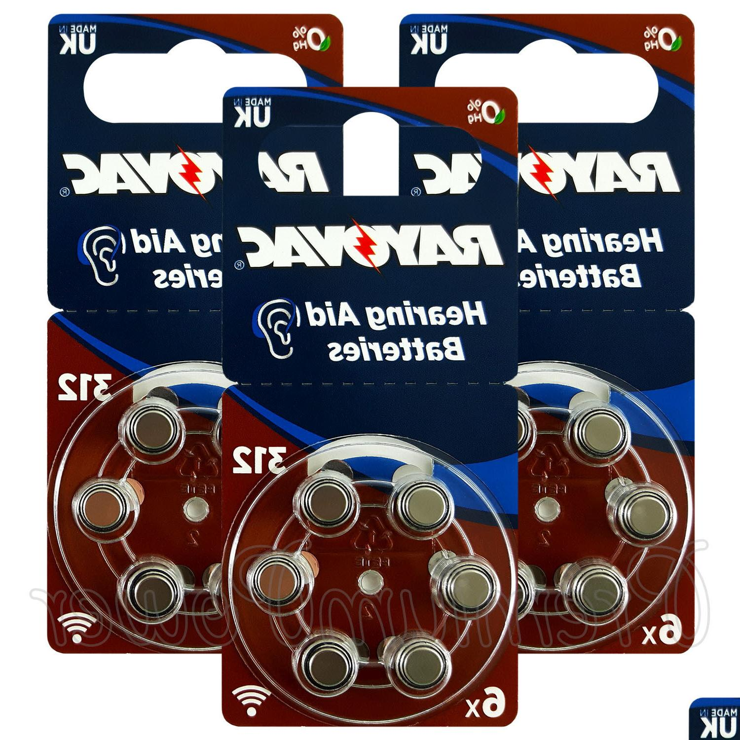 Rayovac Hearing Aid 312 Size Special batteries Zinc air Merc