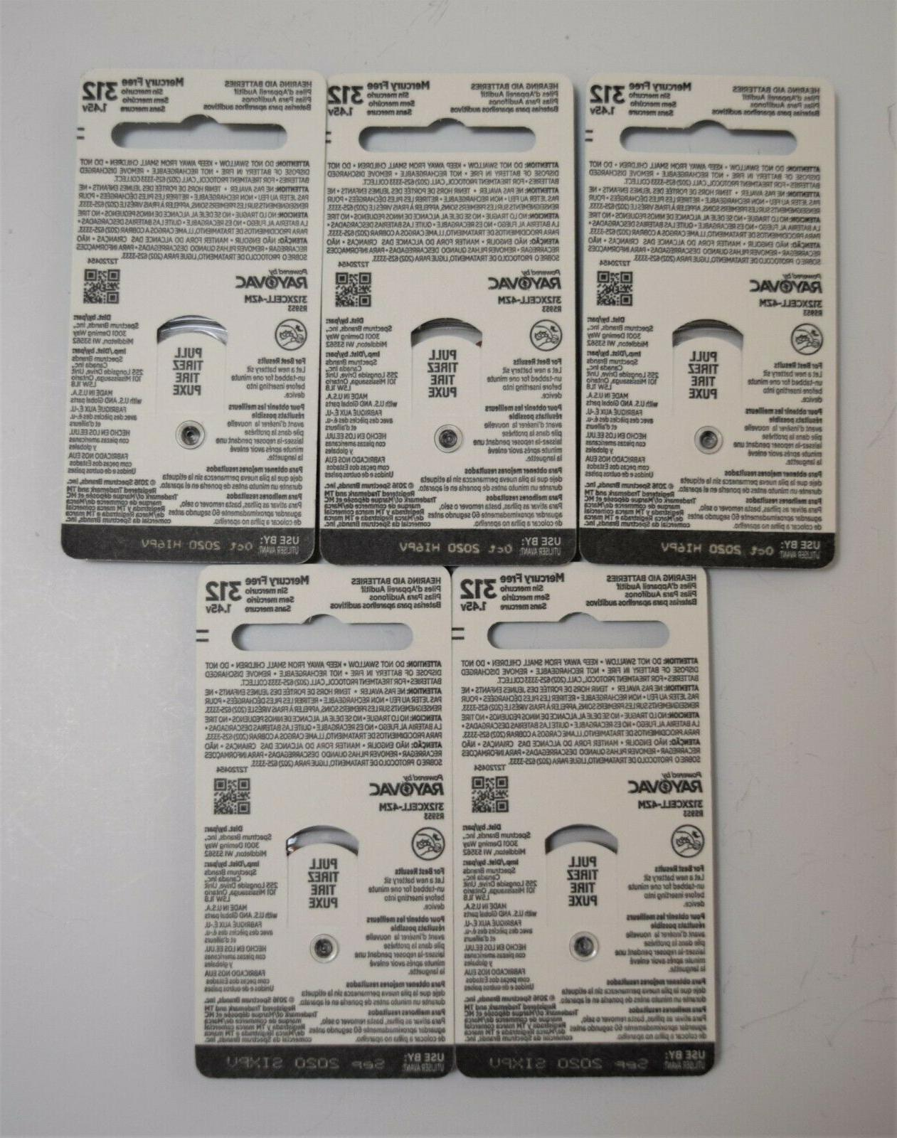 Xcell Aid Batteries size 312