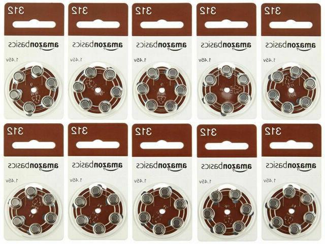 hearing aid batteries zinc air a312 60