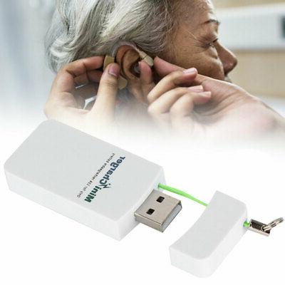 usb2 0 hearing aid battery charger mini
