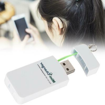 hearing aid battery charger mini hearing aid