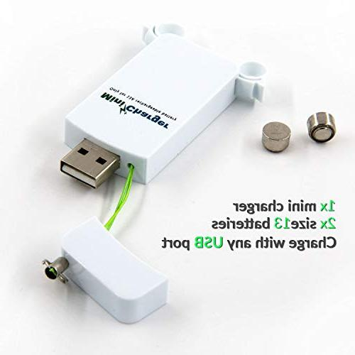 Hearing with Rechargeable Batteries, Mini USB Charger and Two P13 Hearing Batteries -