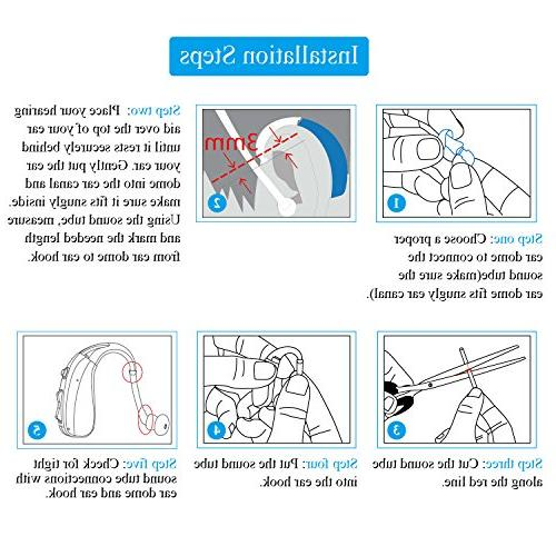 Banglijian Accessories 3pcs Sound 9pcs Ear Pieces Eartips 1pc Brush for etc
