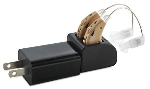 Hearing New Almost Invisible Rechargeable Dock - Personal Pair Sound with Adjustable Volume Tone Control