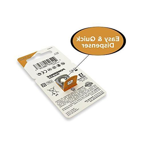 Powermax Size Hearing Zinc Air Mercury-Free, 64