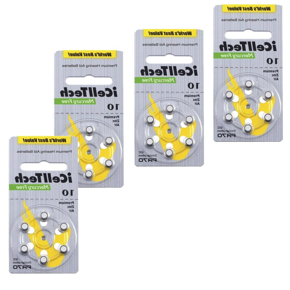 iCell Tech Size 10 Hearing Aid Batteries