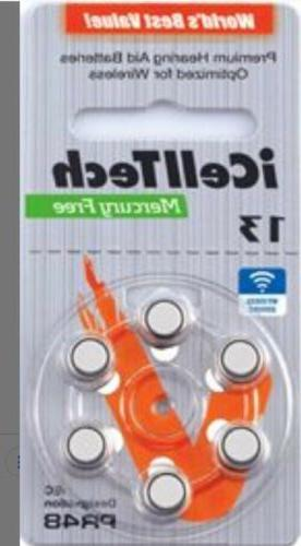 icell tech size 13 hearing aid batteries