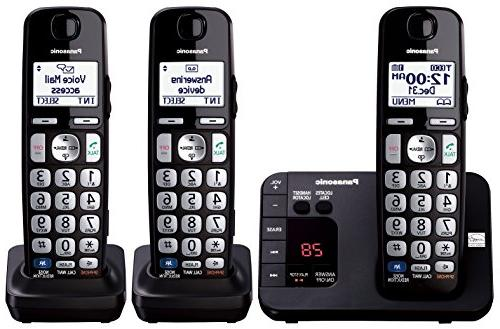Panasonic KX-TGE233B Expandable Cordless Digital Phone with Large Keypad 3 Handsets