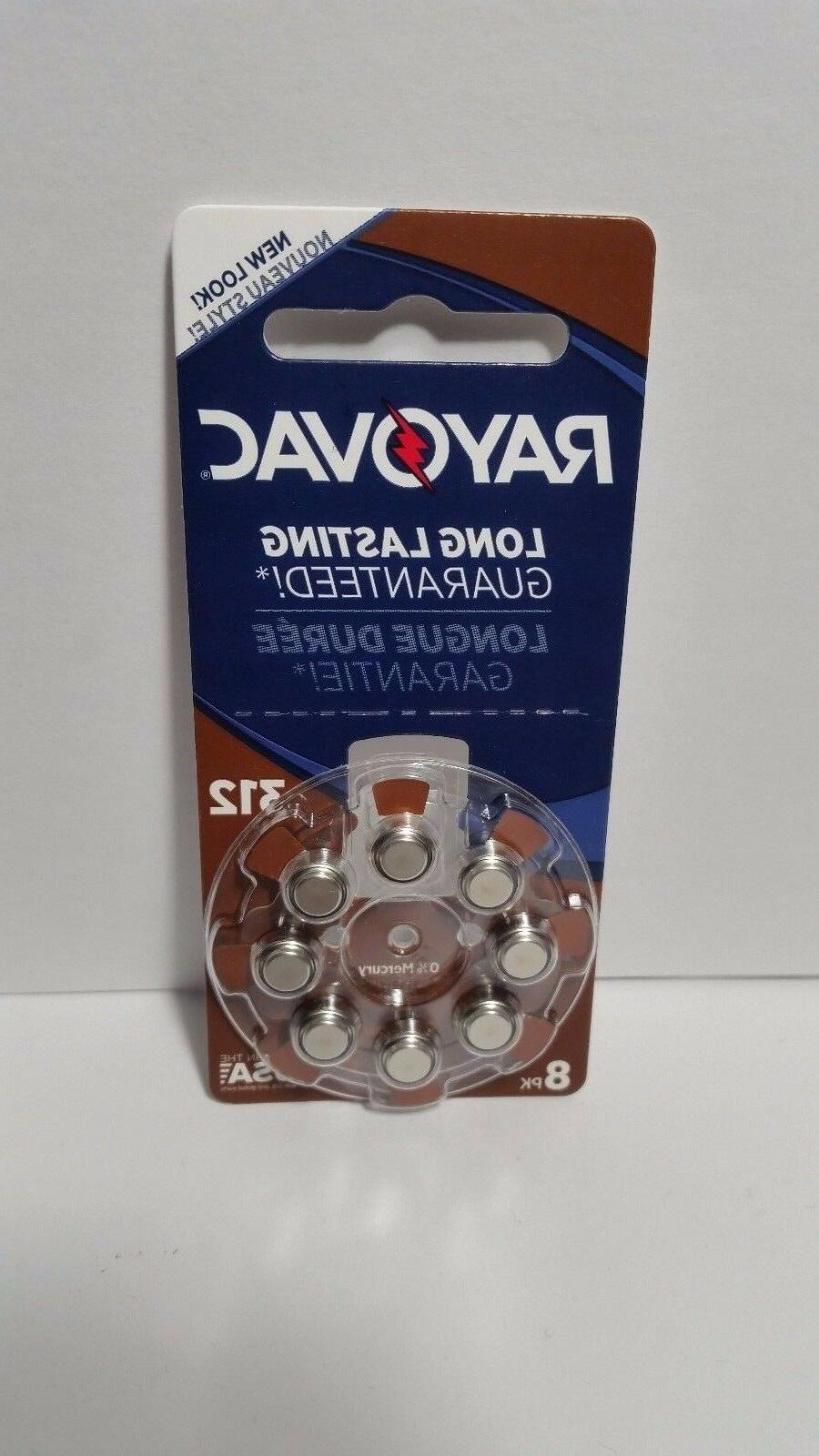 Rayovac L312ZA8ZM 8 Pack Battery for Hearing Aid
