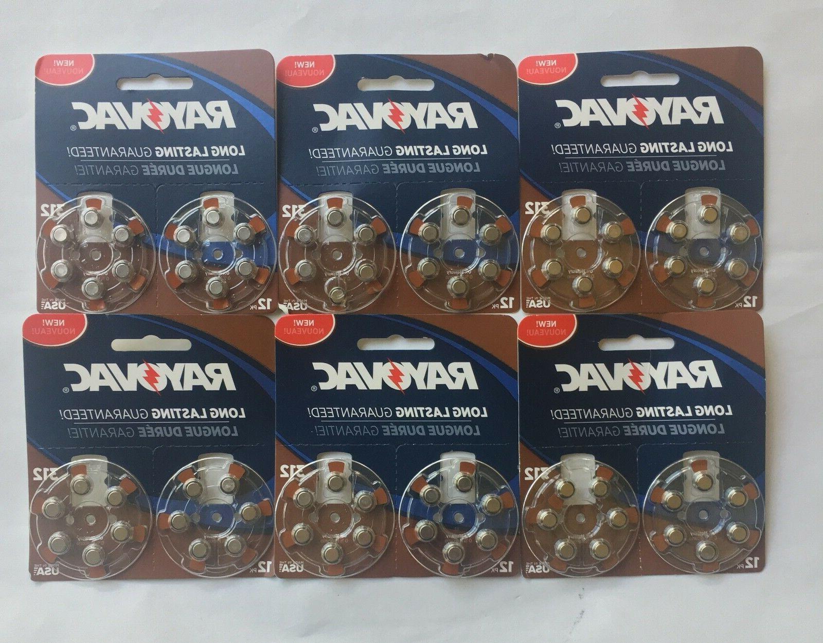 Rayovac Size 312 Mercury-Free Hearing Aid Batteries, 12-Pack