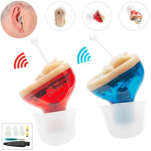MiNi Invisible Hearing Aid CIC Voice Amplifier Enhancer