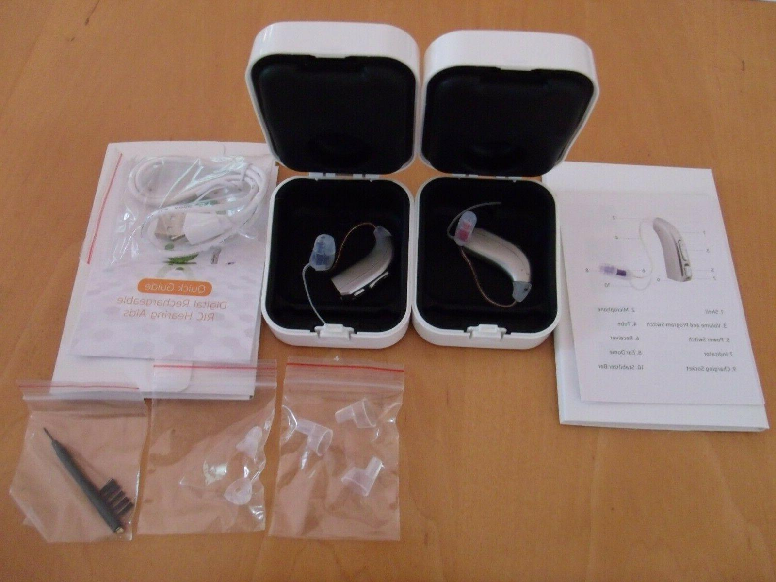 NANO STYLE RECHARGEABLE  DIGITAL RIC HEARING AID ,BUY 1 AID