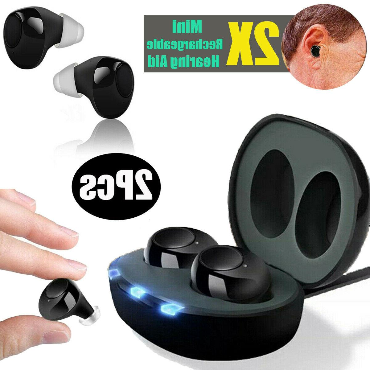 new 2019 rechargeable invisible hearing aids adjustable