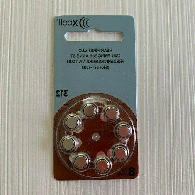 NEW Piece Xcell Batteries Size 8 Pack Each - 1.45V