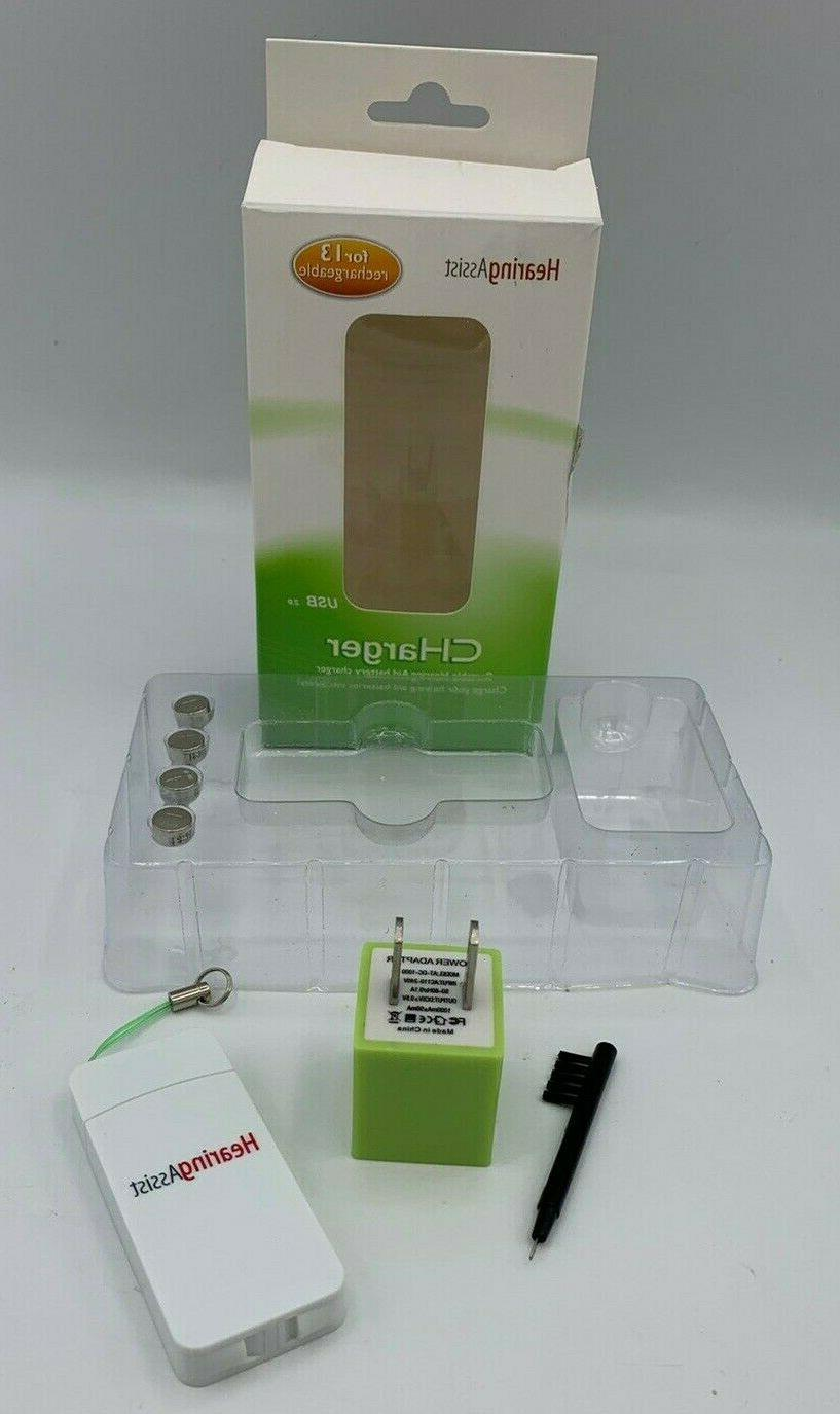 NIB Hearing Portable Hearing Aid Battery Charger for 2.0