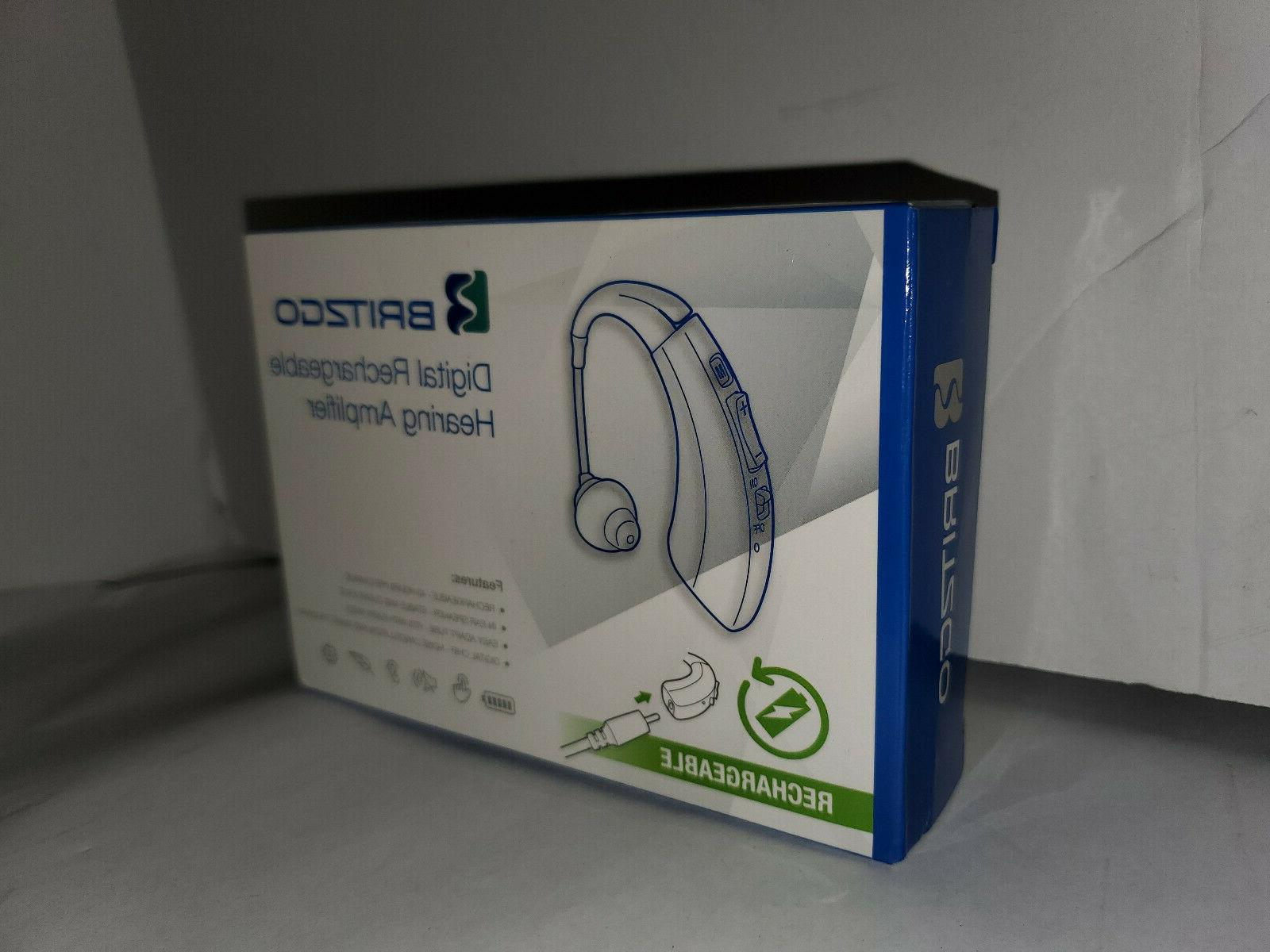 new rechargeable personal digital hearing aid amplifier
