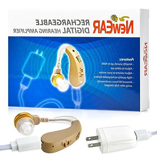 Rechargeable Digital Hearing - Set with Technology - Almost Design with - by