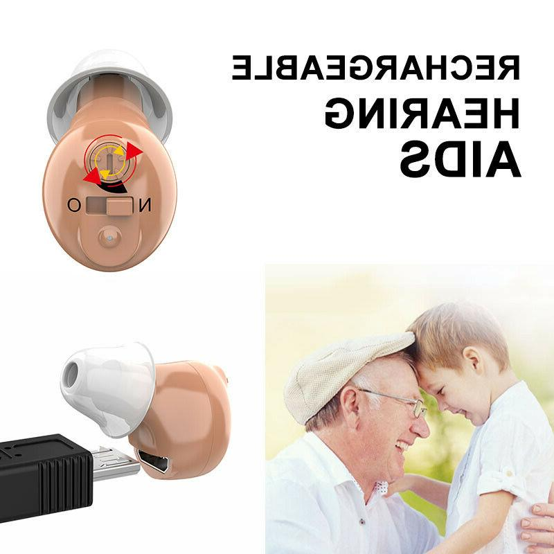 US Rechargeable invisible CIC Digital Hearing Amplifier