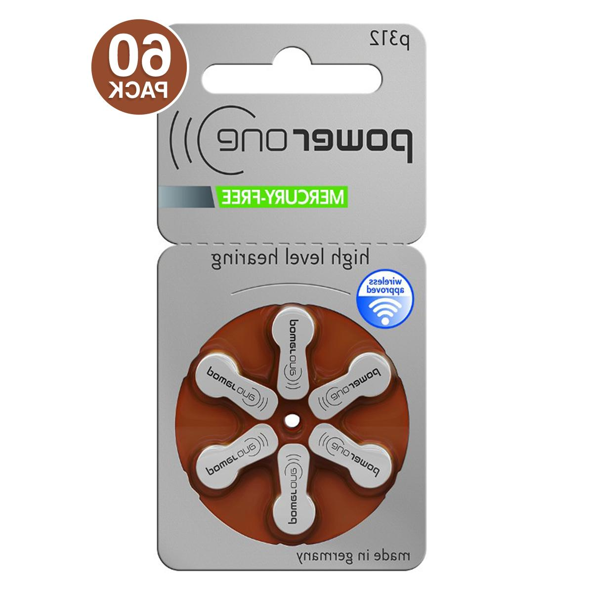 Power One Hearing Batteries 312 Keychain