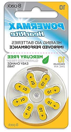 Powermax 10 Aid Zinc Mercury-Free, 64 Count