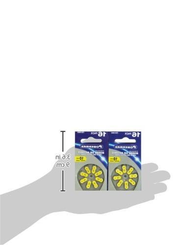 Powermax 10 Aid Yellow Zinc HearRite, 64 Count