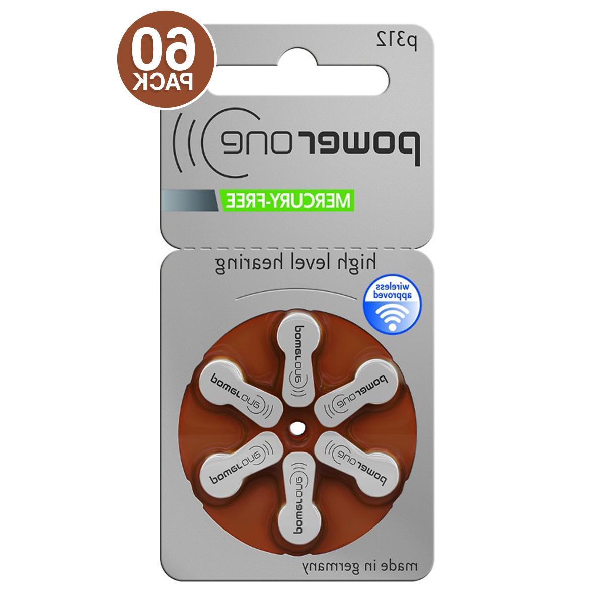 powerone hearing aid batteries pr41 p312 size