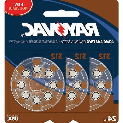 rayovac type 312 hearing aid batteries 24
