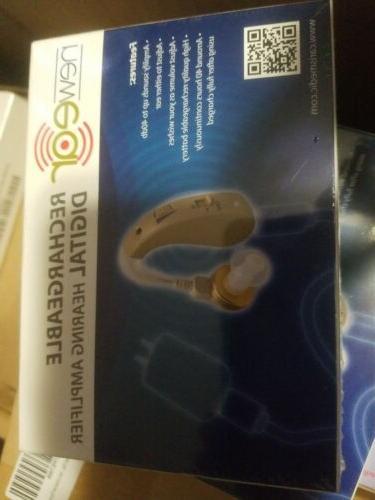 rechargable high quality digital ear hearing amplifier