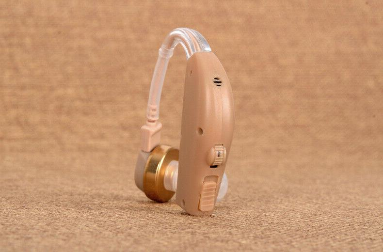 Rechargeable Behind Ear Hearing Sound Voice Amplifier