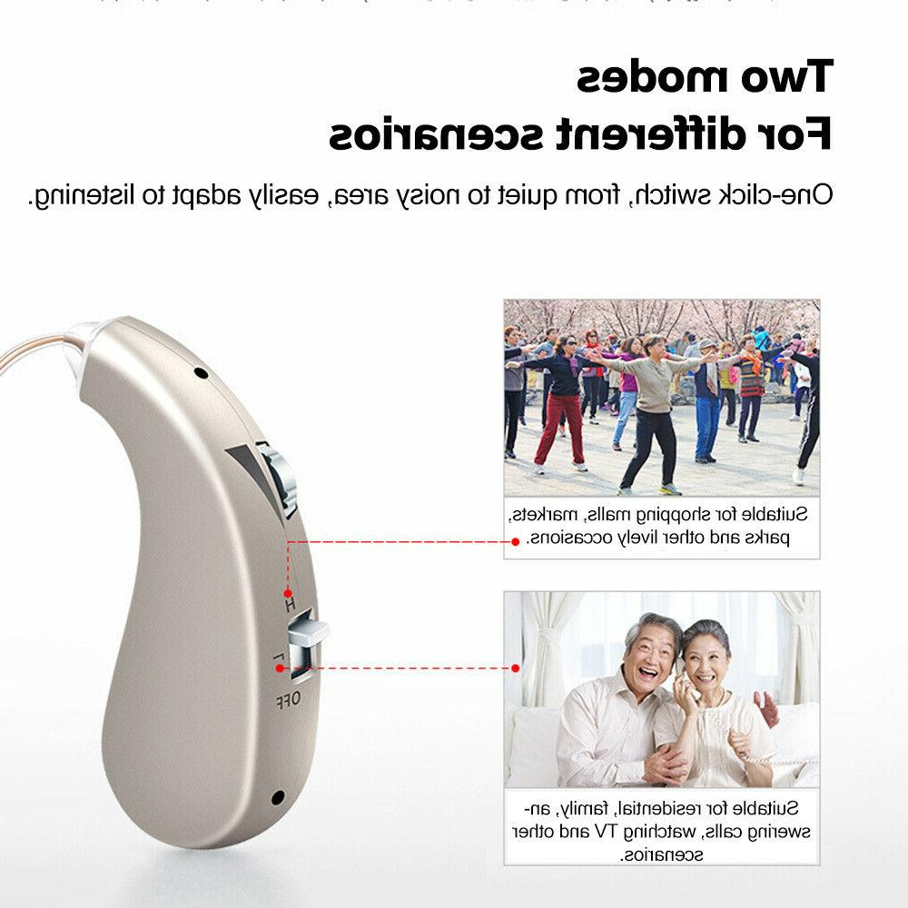 Rechargeable Digital Hearing Aid Flexible Lightweight BTE Aids Voice