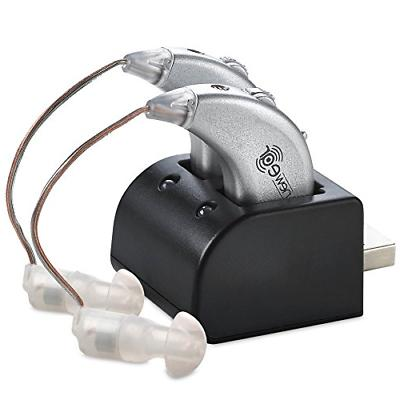 Rechargeable Digital Hearing Aids Ear Sound Amplifier Pair S