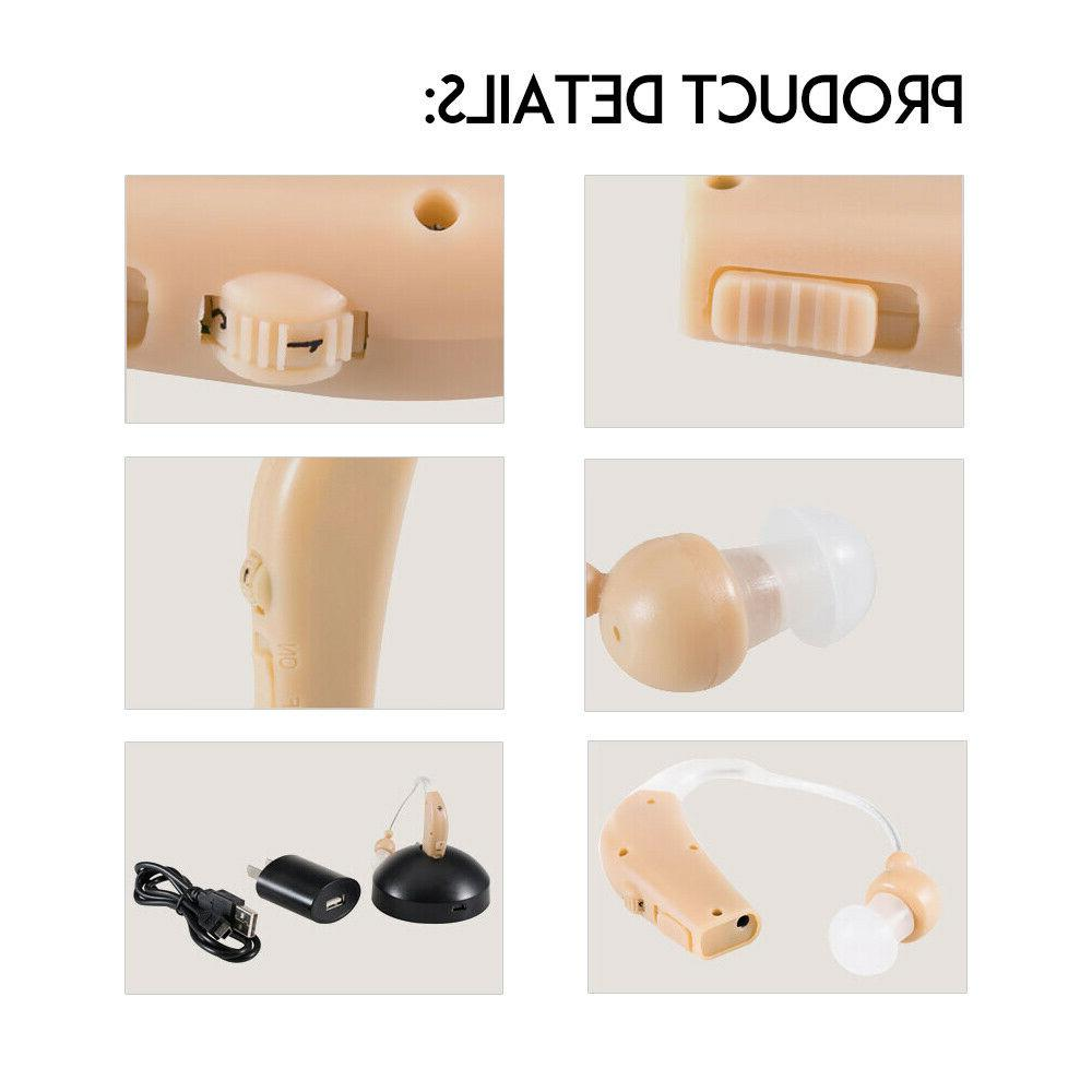 Rechargeable Aid Audiphone Headphone Amplifier