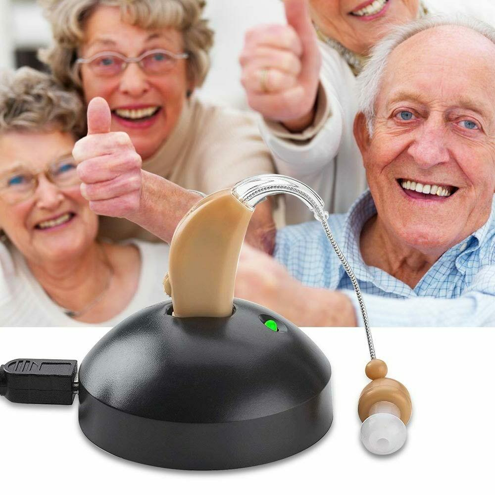 rechargeable acousticon hearing aid voice audiphone sound