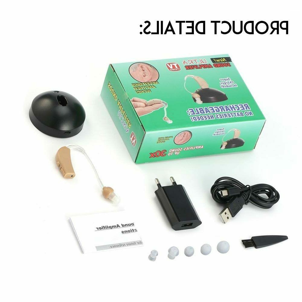 Rechargeable Cordless Audiphone Headphone Electronic Sound Amplifier