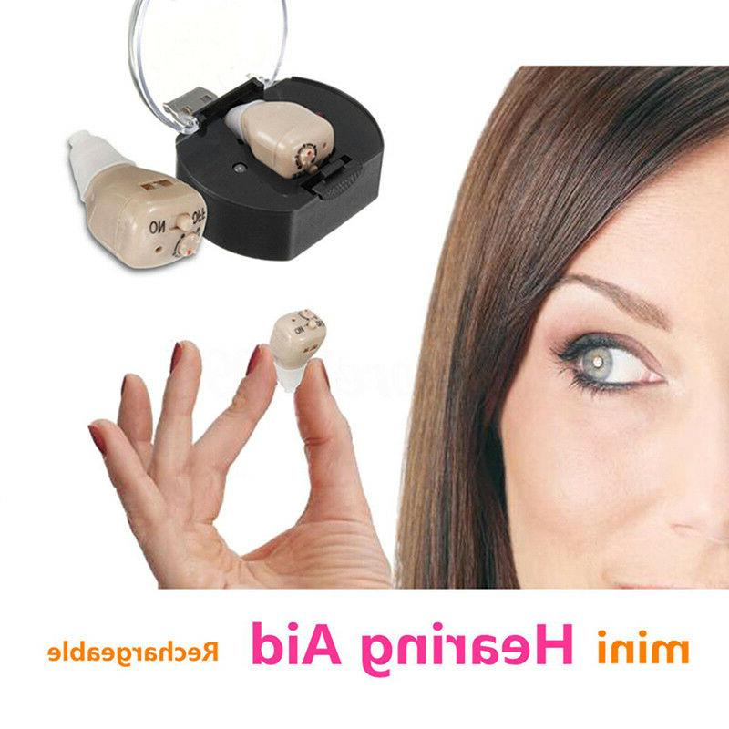 rechargeable hearing aids mini digital adjustable tone