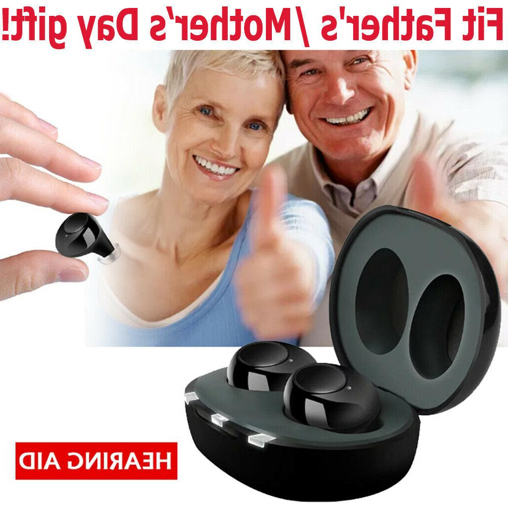 2 Rechargeable Hearing Aid Severe Invisible Ear