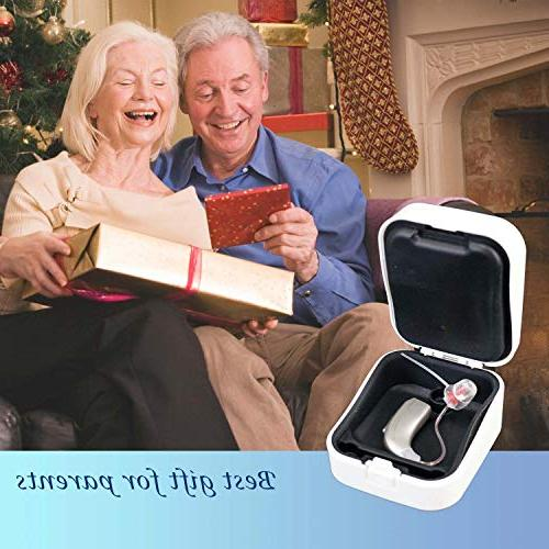 Rechargeable for Adults and Digital Noise Feedback Cancellation to Hearing, FDA Approved, Design