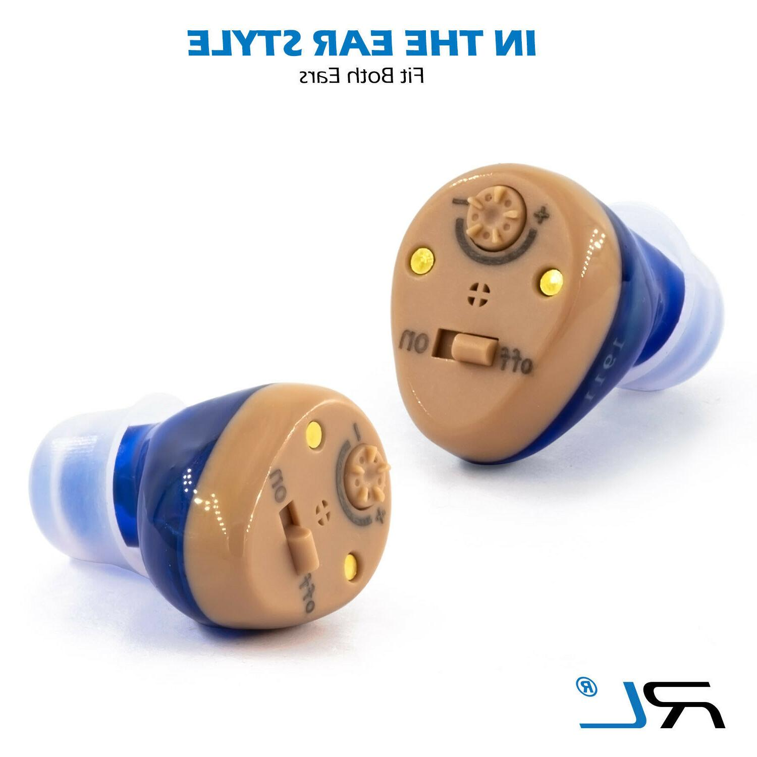 Rechargeable In the Ear Hearing for and -