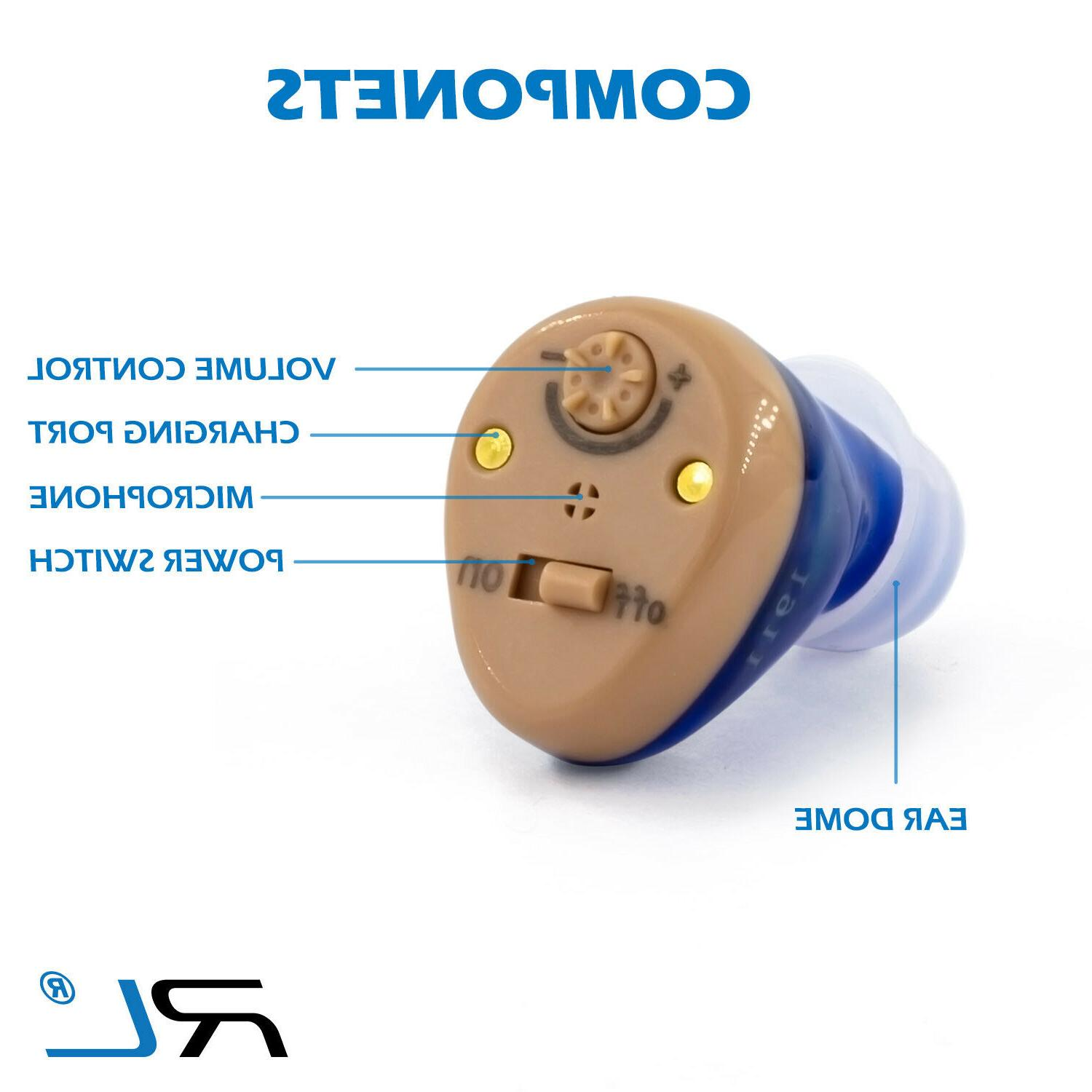 Rechargeable Hearing Aid Amplifier for Adults and Seniors -