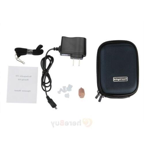 2x Rechargeable Digital Mini Ear Aid
