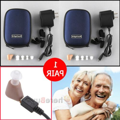 rechargeable mini ear hearing aid