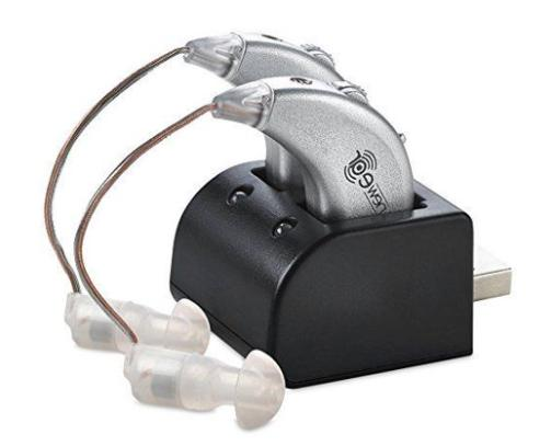 rechargeable pair digital hearing aids sound amplifier