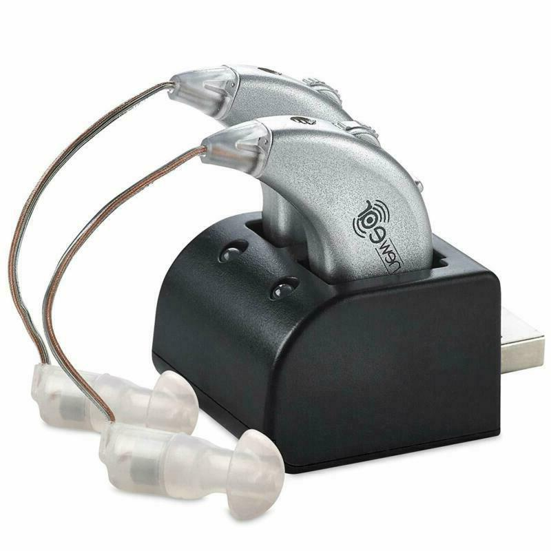 Rechargeable Pair Digital Hearing Aids Sound Amplifier Perso