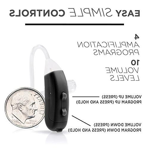 LifeEar Ear Hearing Amplifier Doctor Designed All Control, Graphite
