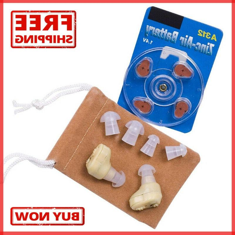 set of 2 hearing aid amplification ear