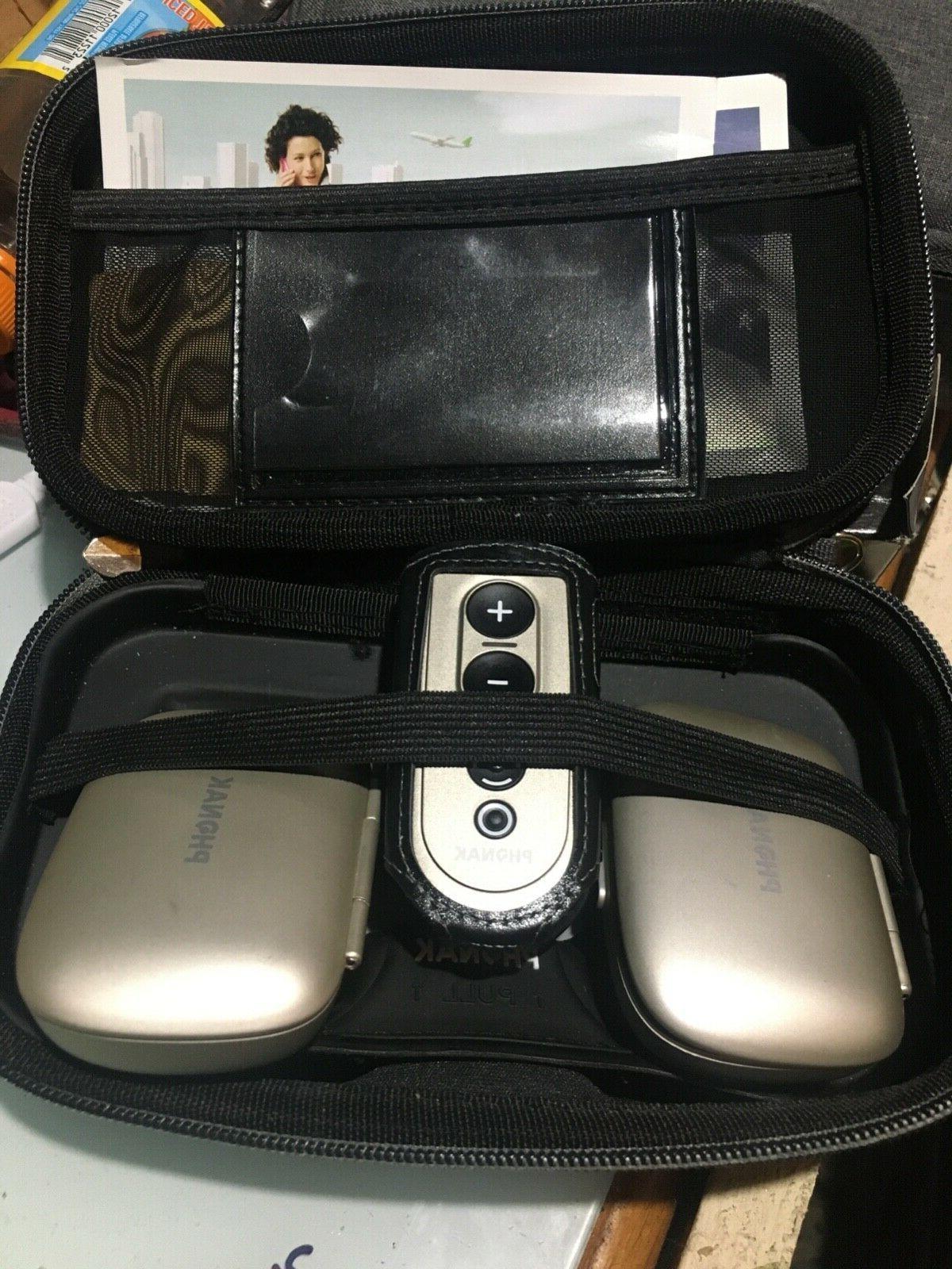 Set V90 Hearing Aids Easyphone, Remote &