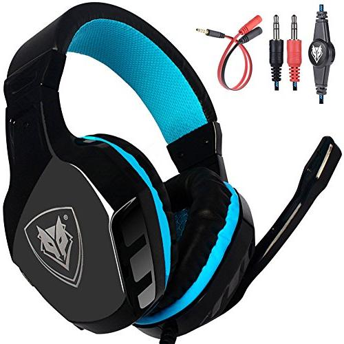 surround stereo gaming headset over